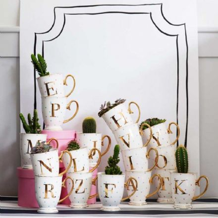 50% off Limited Bombay Duck Alphabet Spotty Metallic Mug